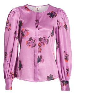 Joie Antonela Button Down Blouse In Orchid S